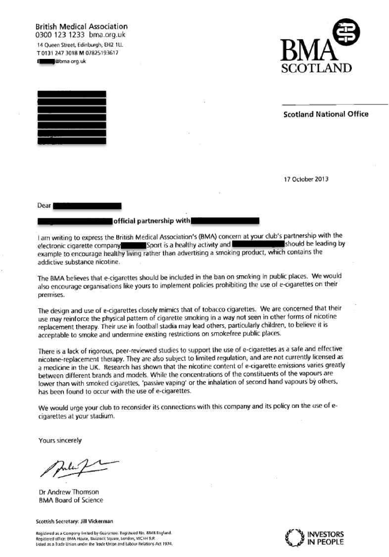 BMA-letter